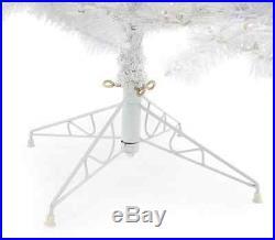 Pre Lit Artificial Christmas Tree 7.5' Holiday Decor Living Room Multi Color LED