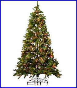 Pre Lit Christmas Tree Multi Color Lights Stand Decoration Ornament Holiday 7FT