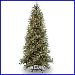 Pre-Lit Feel-Real Down Swept Slim Artificial Christmas Tree