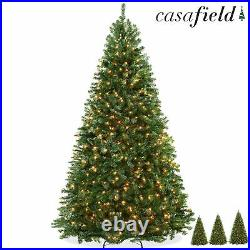 Pre-Lit Realistic Green Spruce Artificial Holiday Christmas Tree and Stand