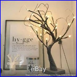 Pre Lit Snowy Twig Tree 24 Warm White LEDs And Built In Timer Christmas Lights