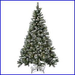 Prelit Snow Tipped Christmas Tree 7ft