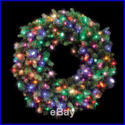 Prelit Wreath Multi 36