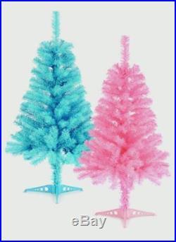 Premier Value Christmas Tree Option of Pink or Blue 90cm Xmas Decoration