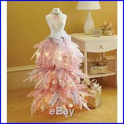 Premium 3′ Dress Form Holiday Christmas Tree Mini Mannequin PRETTY PINK