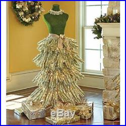 Premium 5′ Dress Form Holiday Christmas Tree Mannequin CHAMPAGNE/GREEN