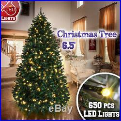 Premium Artificial Christmas Tree 6.5′ w 650 LED Light, 1880 Tips, Stand Full Fir
