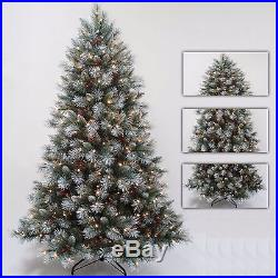 Premium Green Frosted Pre Lit Tree Warm White Leds Pine