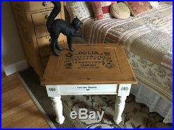 Primitive Vintage Reproduction Halloween Ouija Board Game Side Table HP OOAK