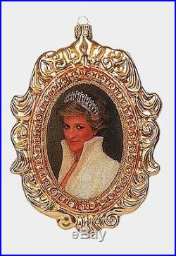 Princess Diana Portrait Polish Blown Glass Christmas Ornament Wales Decoration