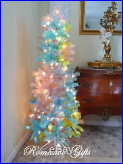 Princess PASTEL Slim Pencil Pre-Lit Christmas Tree 5 foot tall