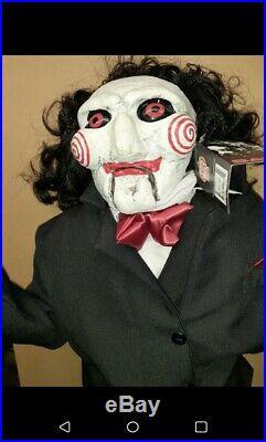 Prop SAW Billy Puppet Jigsaw Life Size Halloween Prop Decor 47