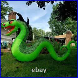 Pumpkin Hollow Giant Inflatable Serpent Dragon + Fog Effect Halloween Decoration