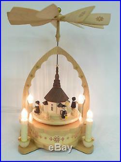 Pyramide elektr. Seiffener Kirche 160/64 Original Erzgebirge Weihnachtsdekoration