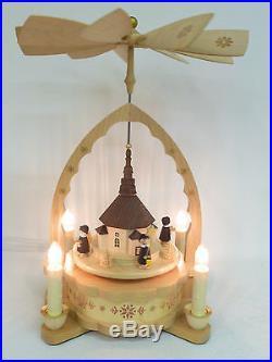 Pyramide elektr. Seiffener Kirche Original Erzgebirge Weihnachtsdekoration