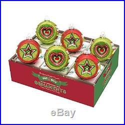 RADKO Brite Holiday Splendor LG Reflectors Hearts & Stars Christmas Ornaments