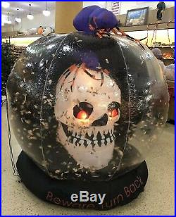 RARE Halloween 6FT Whirlwind Skull Globe Airblown Inflatable Flying Bats