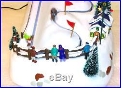 RARE MR. CHRISTMAS WINTER WONDERLAND SLALOM Action/Lites 30 Tune Music Box MIB