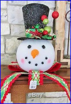 RAZ CHRISTMAS TREE TOPPERSNOWMAN HEADHOLIDAYDECORATIONS