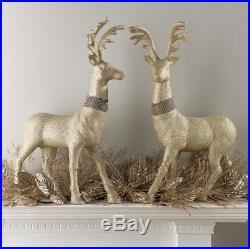 RAZ Imports29 Glittered Champagne Rhinestone DeerSet of 2ChristmasReindeer