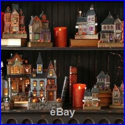 RAZ Imports9.5 Lighted Halloween Haunted House Set 4Battery Operated Decor