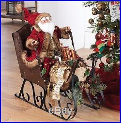 RAZ Santa in SLEIGH HUGE 29.5 BEAUTIFUL