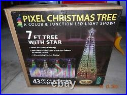 RGB LED 7′ Light Show Pixel Christmas Tree with Remote & Timer light show NEW NIB
