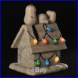 ROMAN 18 Peanuts Snoopy Dog House Figure Solar Christmas LED Lights #161006 NEW