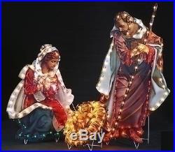 ROMAN Holy Family Nativity Christmas Holiday Yard Art 200 Indoor/Outdoor Light