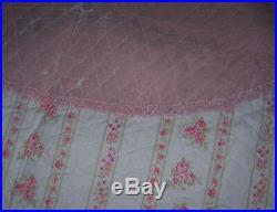 Rachel Ashwell Simply Shabby Chic Pink Velvet Tree Skirt
