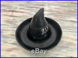 Rae Dunn Halloween 2020 Chip And Dip Black Witch Hat LL Spooky New Release HTF