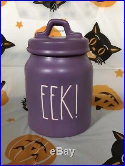 Rae Dunn Purple Baby EEK! Canister Halloween NIB- Rare and Hard to find