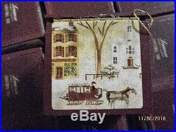 Ralph Lauren 1988 Case of 72 Wooden Box Christmas Ornaments-NEW