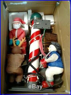 Rare Christmas Character Ski Lift Santa Frosty Rudolph