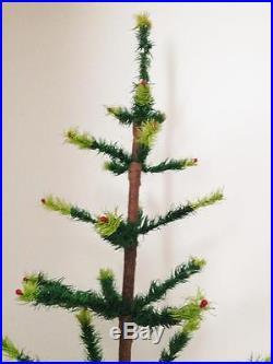 Rare Genuine Antique Vintage Goose Feather Christmas Tree