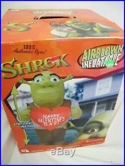 Rare Shrek Ogre Gemmy Airblown Inflatable 6′ Happy Valentines Day