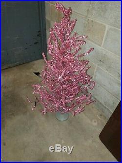 Rare Vintage Pink Aluminum Christmas Tree
