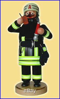 Räucherfigur Räuchermann Feuerwehrmann 22 cm Seiffen NEU Rauchfigur Erzgebirge