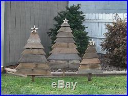 Reclaimed Barn Wood CHRISTMAS TREE YARD ART Country Christmas Trees Yard Decor