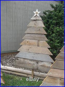 Reclaimed Barn Wood Christmas Tree Yard Art Country