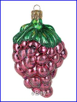 Red Grapes Bundle Polish Blown Glass Christmas Ornament New Tree Decoration
