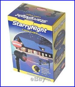 Red/Purple Starry Motion Laser Christmas Light Shower Night Star Dancing on TV