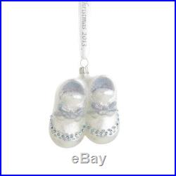 Reed & Barton Baby's First Booties Christmas Ornament 3-1/4in Blue, New