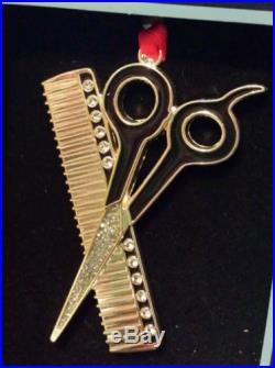 Regent Square Bling Hair Stylist Dresser Comb Scissors 2014 Christmas Ornament