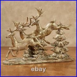 Reindeer Flight Table Sculpture Gold