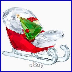 Retired Swarovski Crystal Santa's Sleigh Christmas FIgurine 5403203 Mint New