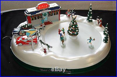 Rock n' Roll Mr. Christmas working display