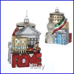 Rome Italy Cityscape Glass Christmas Ornament New Italian Holiday Decoration