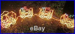 Rope Light Train CHRISTMAS LIGHTS Indoor/Outdoor Yard XMAS Holiday 8FT. Long