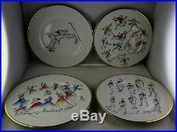Rosanna Italy 12 Twelve Days of Christmas Dessert Plate Collection Minty
